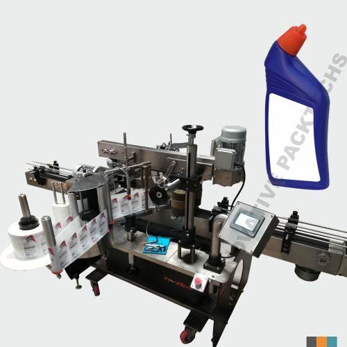 Automatic Harpic Bottle Sticker Labeling Machine