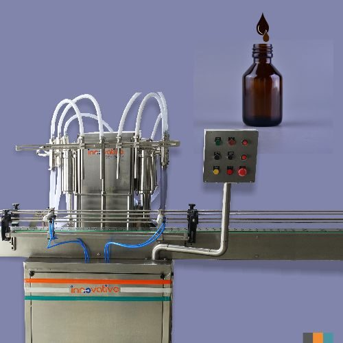 Automatic Four Head Syrup Filling Machine