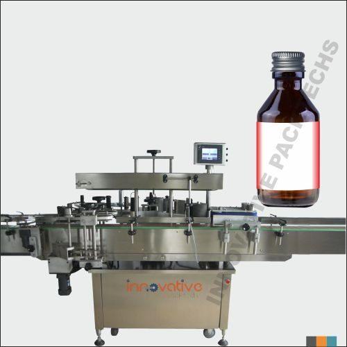 Automatic Syrup Bottle Sticker Labeling Machine