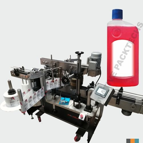 Automatic Toilet Cleaner Bottle sticker Labeling Machine