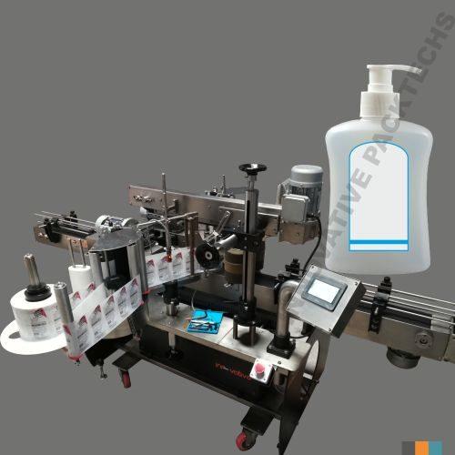Handwash Bottle Two Side Sticker Labeling machine