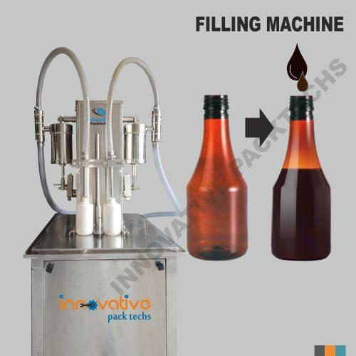 Semi-automatic Syrup filling machine