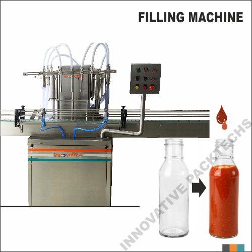 Automatic four Head sauce filling machine