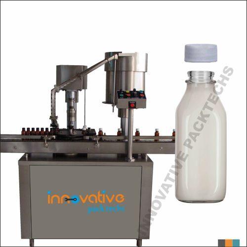 Automatic Milk Bottle Screw capping Machine