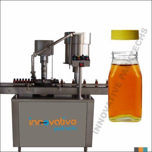Automatic Honey Bottle screw capping machine