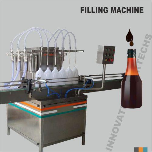 Automatic six head syrup filling machine