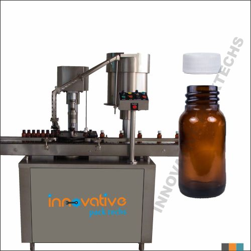 Automatic Syrup Bottle screw capping machine